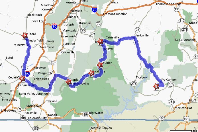 Milford Utah Map.Tour De Bocrie
