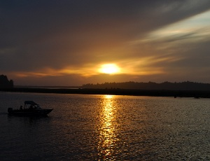 sunset on nehalem bay.JPG